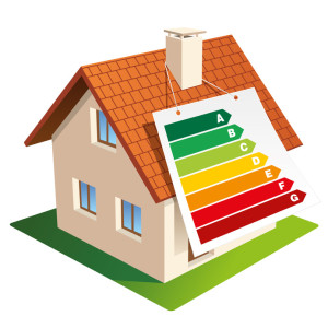 Home with energy efficiency levels