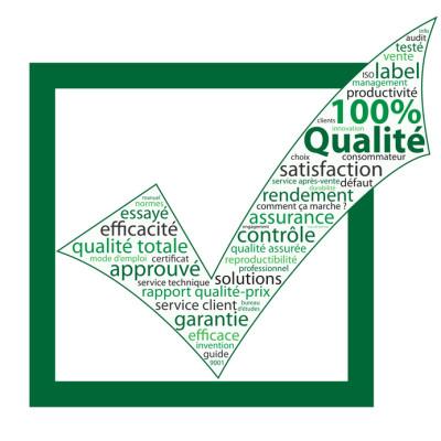 """Nuage de Tags """"QUALITE"""" (coche garantie service client qualit)"""